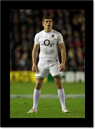 Rugby Union - Six Nations Championships - Scotland vs. England   EDINBURGH, SCOTLAND - FEB 04: Owen Farrell of England prepares to take a kick during the Scotland vs England RBS Six Nations Championship at Murrayfield Stadium on Feb 4th, 2012 in Edinburgh