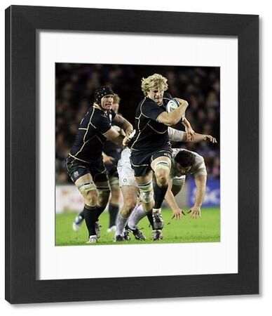Rugby Union - Six Nations Championships - Scotland vs. England   EDINBURGH, SCOTLAND - JAN 04: Richie Gray of Scotland bursts towards the try line during the Scotland vs England RBS Six Nations Championship at Murrayfield Stadium on Jan 4th