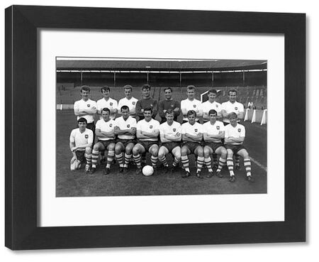 Football - 1964 / 1965 season - Preston North End photocall PNE team group Back (left to right): G. Ross, Howard Kendall, A. Singleton, Alan Kelly, J. Barton, J. Smith, J. Donnelly, D. Holden.  Front: E. Hannigan, David Wilson, Alan Ashworth