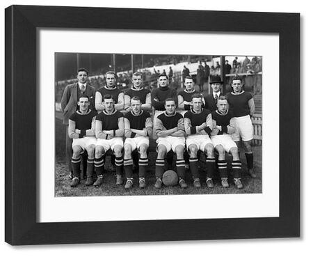 Burnley team group 1928/29 season.  Back, l-r: Spargo, Steele, McCluggage, Down, Waterfield, C. Bates (trainer) Louis Page.  Front: Bruton, Hunt, Fitton, Parkin, Beel, Devine.  Football Credit : Colorsport