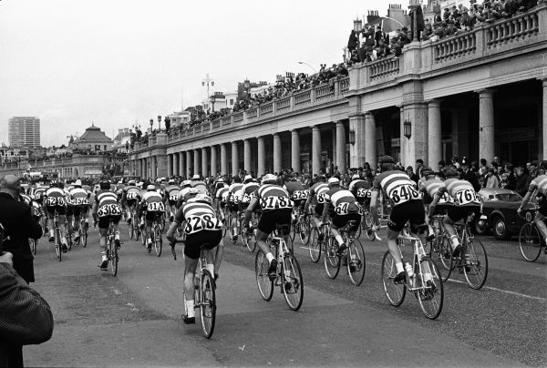 Road Cycling - 1968 Milk Race (Tour of Britain) - Stage One Depart: Brighton The riders start the stage along the promenade. 25/05/1968