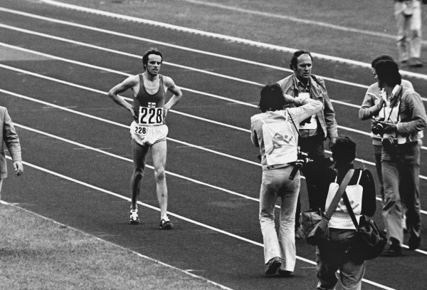 Athletics - 1972 Munich Olympics - Men's 10,000m Final Finland's Lasse Viren after winning the race in the Olympiastadion, Munich, West Germany. Despite falling during the race Viren set a new world record 27:38.35