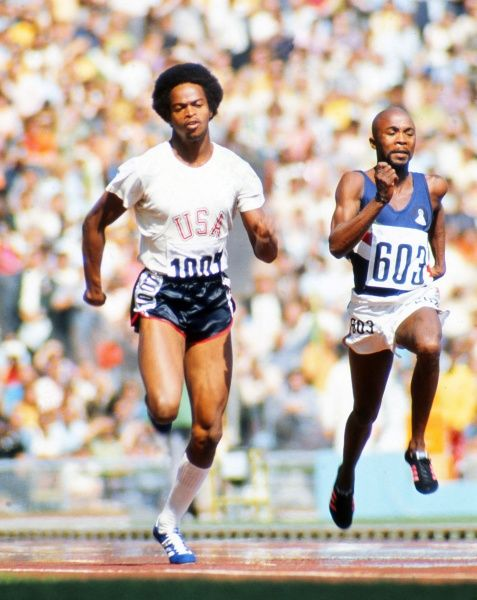 Athletics - 1972 Munich Olympics - Men's 100m Round One Heat Six The USA's Reynaud 'Rey' Robinson on the way to winning his heat in the Olympiastadion, Munich, West Germany