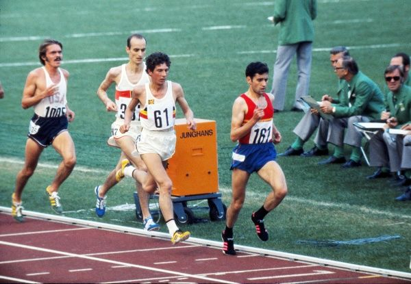 Athletics - 1972 Munich Olympics - Men's 5000m Round One Heat Two The four men who qualified from the heat for the final
