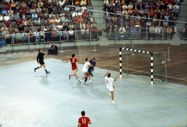 Handball - 1972 Munich Olympics - Round Two Group A: Soviet Union 12 Czechoslovakia 15 The Soviet Union takes on Czechoslovakia in the Sports Hall, Olympic Park, Munich, West Germany. This was the first time it had been played indoors