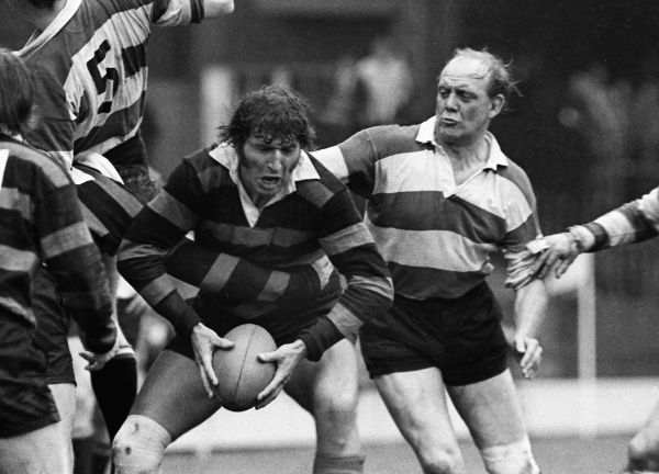 Rugby Union - 1972 RFU Club Knock-Out Competition Final - Gloucester 17 Moseley 6 Moseley's Ron Morris (left) and Gloucester's Mike Potter at Twickenham