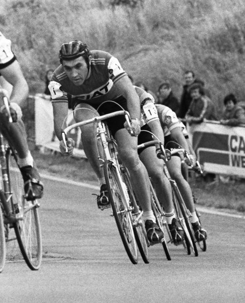 Road Cycling - 1977 Glenryck Cup Professional Criterium - Eastway Cycle Circuit Belgium's Eddy Merckx at Lee Valley Park, East London (later site of the Olympic VeloPark)