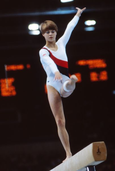 Gymnastics - 1980 Moscow Olympics - Women's Balance Beam Great Britain's Susan Cheesebrough on the balance beam in the Palace of Sports, Central Lenin Stadium Area, Moscow, USSR