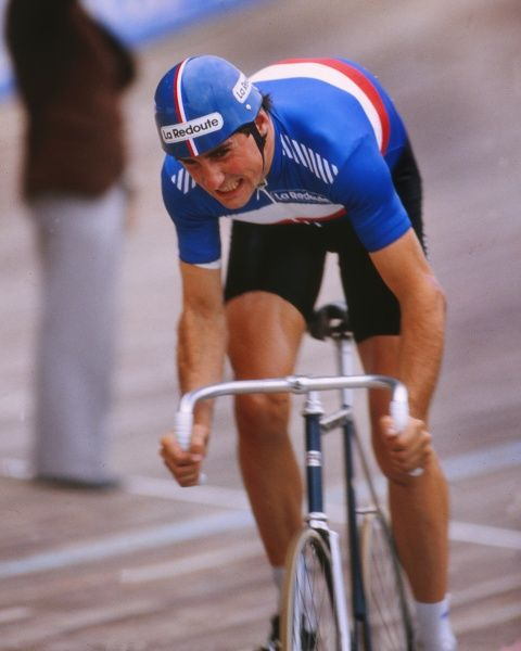 Track Cycling - 1982 UCI Track World Championship - Men's Professional 5000m Individual Pursuit France's Alain Bondue, who defended his world title at Leicester