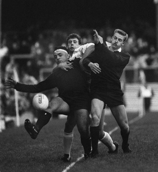 Rugby Union - 1987 Varsity Match - Oxford University 10 Cambridge University 15 Jeffrey Chislett and Andrew Furnival (Oxford) at Twickenham