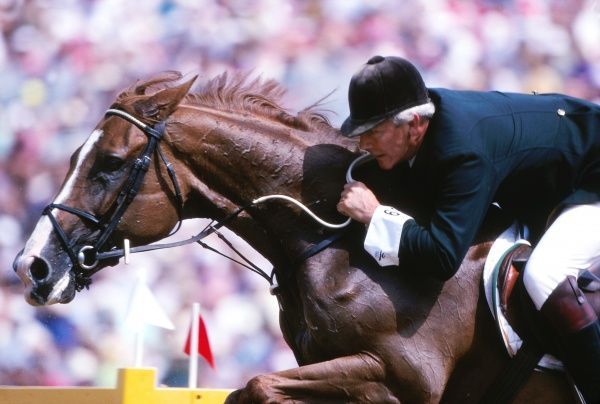 Equestrianism - 1992 Barcelona Olympics - Mixed Jumping Ireland's Eddie Macken on Welfenkrone at the Royal Polo Club, Barcelona