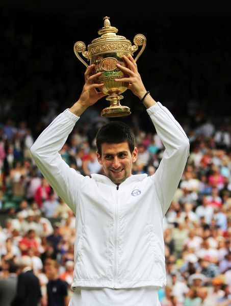Tennis - The Championships Wimbledon - Day 13 Novak Djokovic defeats Rafael Nadal in the final of the mens singles on day thirteen at Wimbledon 2011. Ian MacNicol/Colorsport