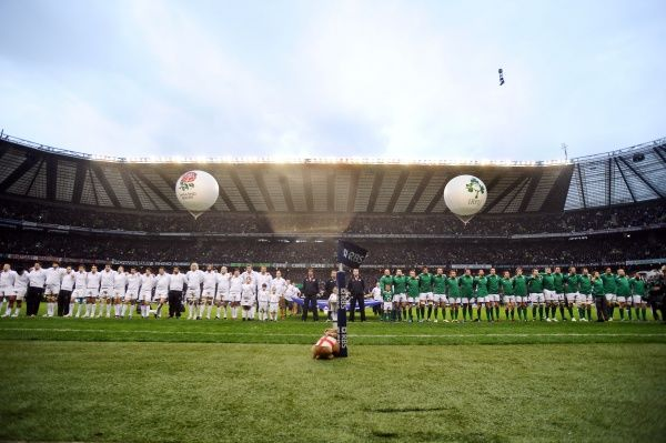 Rugby Union - 2012 Six Nations Championship - England vs. Ireland England and Ireland teams at the National anthems