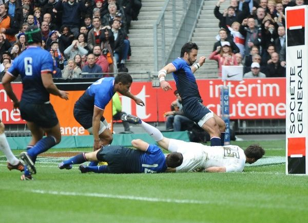 Rugby Union - Six Nations Championship - France vs. England Ben Foden (England) goes over to score their 2nd try
