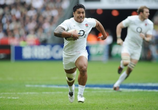 Rugby Union - Six Nations Championship - France vs. England Manu Tuilagi (England) runs over to score their 1st try