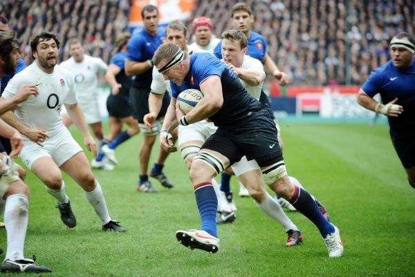 Rugby Union - Six Nations Championship - France vs. England Imanol Harinordoquy - France on the charge