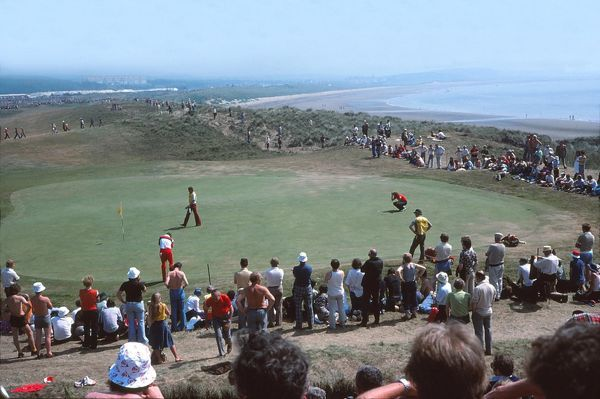 Golf - The Open championship General view of the 8th Green.  British Open Golf Championships 1977 @ Turnberry  09/07/1977 Credit : Colorsport