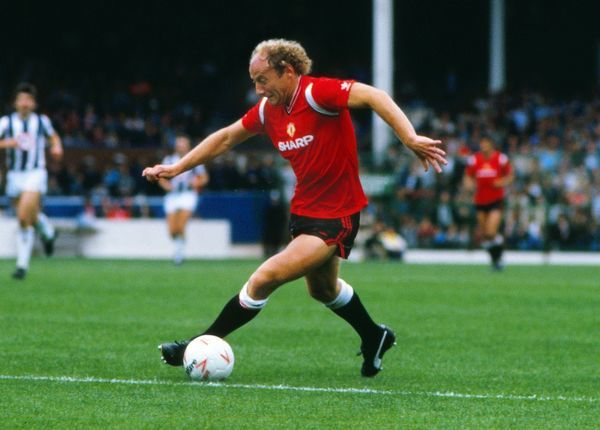 Football - West Bromwich Albion vs. Manchester United. Alan Brazil of Man Utd