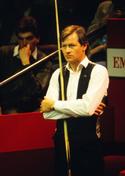 Alex Higgins - Second Round of the Embassy World Snooker Championship, 1986.  Alex Higgins (N.Ireland) vs Terry Griffiths (Wales) Higgins lost the match 13-12  Credit: Colorsport