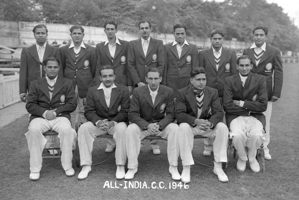 Cricket - 1946 All-India Tour of England - Worcestershire beat India 16 runs The India team group before the game against Worcestershire at the County Ground, New Road, Worcester, on 04-07/05/1946. Back (l-r): D. Hindlekar, V. Mankad, Abdul Hafeez