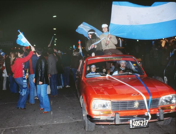 Argentina fans celebrate their 1978 World Cup victory