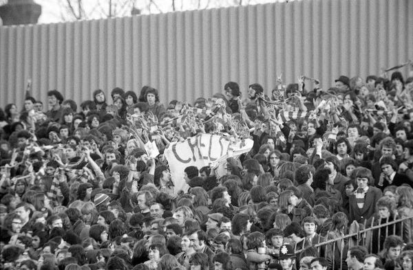 Football - 1973 / 1974 First Division - Arsenal 0 Chelsea 0    Chelsea fans at Highbury.    17/11/1973