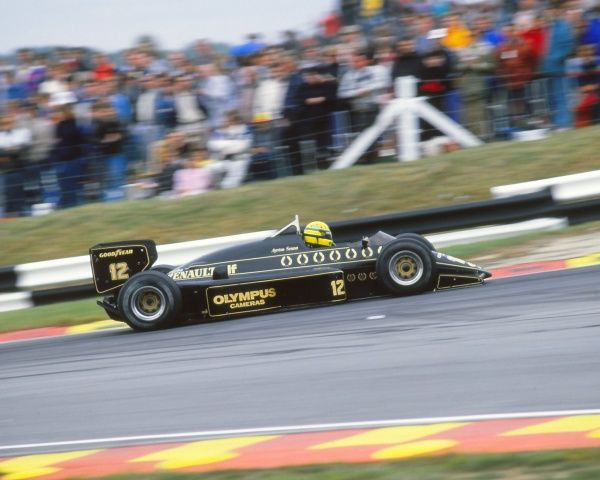 Motorsport - FIA Formula One World Championship 1985 - British Grand Prix Ayrton Senna in action in his Lotus at Silverstone