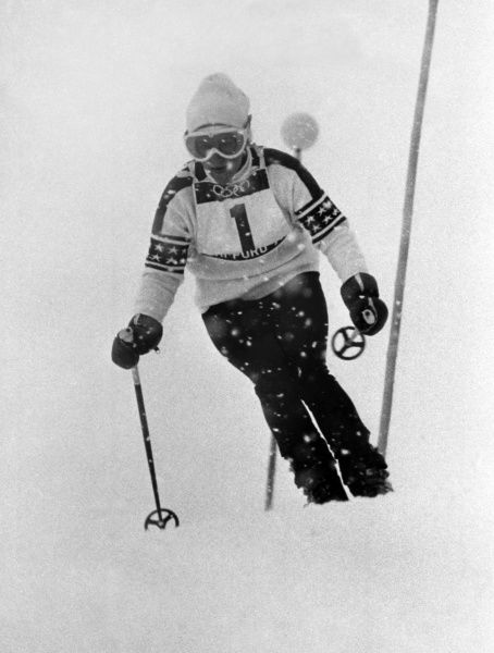 Alpine Skiing - 1972 Sapporo Winter Olympics - Women's Slalom The USA's Barbara Cochran, who won the gold medal at Mount Teine, Japan. 11/02/1972