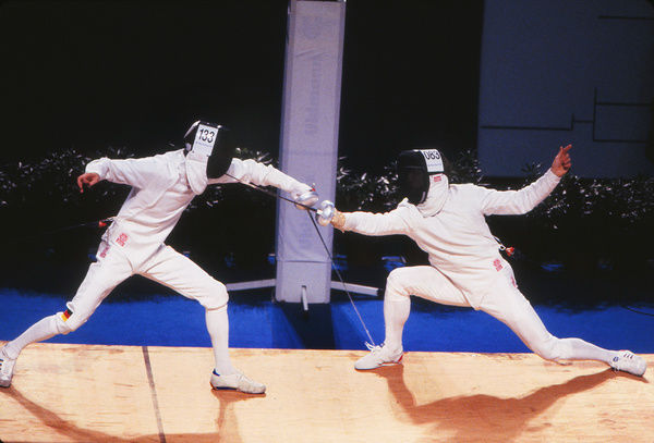 Fencing - 1992 Barcelona Olympics - Men's Epee Team, Semi-Final: Unified Team vs
