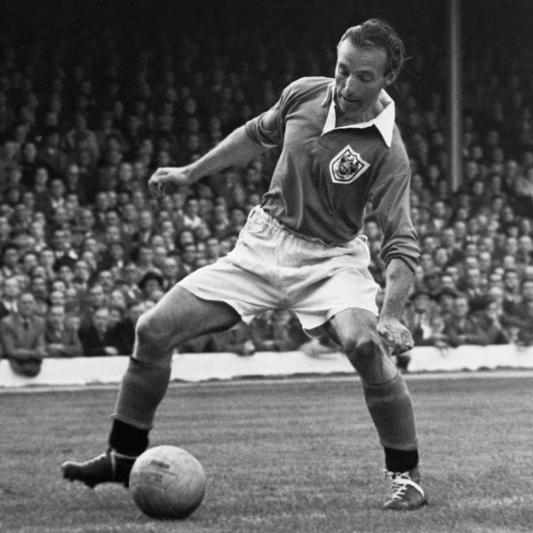 Blackpool's Stanley Matthews on the ball