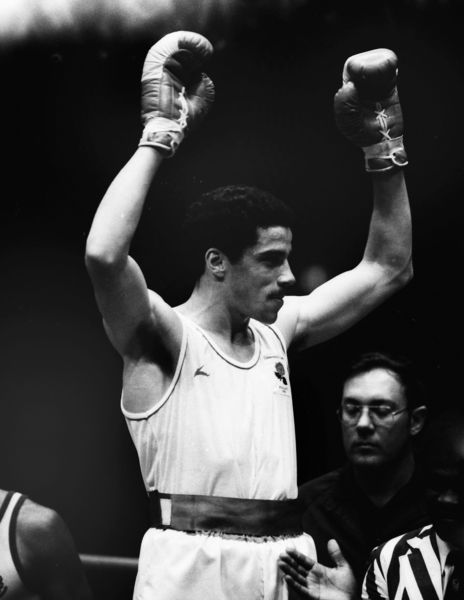 Boxing - 1982 Brisbane Commonwealth Games - Men's Middleweight [75kg] Final: Jimmy Price (England) vs. Sam Douglas (Australia) Gold medal winner Jimmy Price