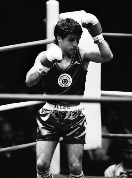 Boxing - 1982 Brisbane Commonwealth Games - Men's Flyweight [51kg] Final: Joseph Kelly (Scotland) vs. Michael Mutua (Kenya) Joseph Kelly, winner of the silver medal