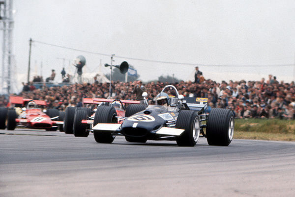 Motorsport - 1969 Formula One [F1] World Championships - British Grand Prix  Piers Courage in his Brabham-Ford car, on the way to finishing fifth at Silverstone