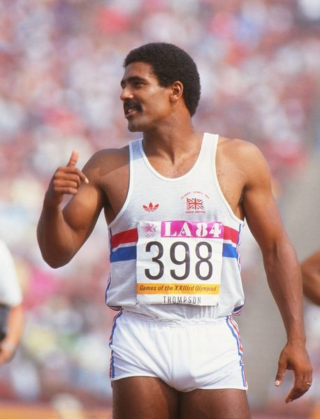 Athletics - 1984 Los Angeles Olympics - Men's Decathlon Day 1 Great Britain's Daley Thompson during the decathlon in the Los Angeles Memorial Coliseum, California, USA