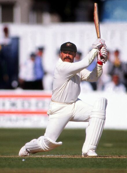 Cricket - Australian cricket team in England in 1989 - 2nd ODI, England vs. Australia Australia's David Boon batting at Trent Bridge