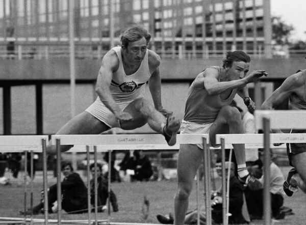 Athletics - 1969 Sward Trophy Meeting - 400m Hurdles David Hemery (left) and Alan Pascoe during the event at Crystal Palace. The pair won a silver medal together as part of the Great Britain 4x400m relay team at the 1972 Olympics in Munich