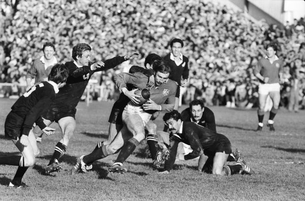 Rugby Union - 1983 British Lions Tour of New Zealand - Fourth Test: New Zealand 38 British Lions 6 David Irwin runs with the ball for the Lions at Eden Park, Auckland