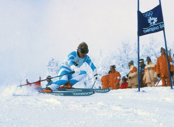 Winter Olympics @ Sarajevo 1984 Mens Skiing : Feb 1984 Giant Slalom David Mercer - GBR