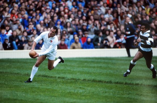 David Trick scores for England in 1982