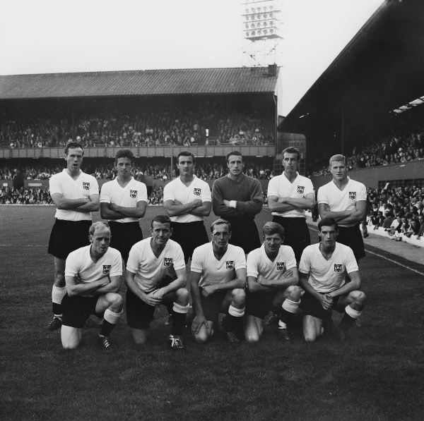 Derby County team group 1964/1965 season Derby v Norwich City Back, l-r: Geoff Barrowcliffe, Ron Webster, Jack Parry, Reg Matthews, Ray Young, Bobby Ferguson