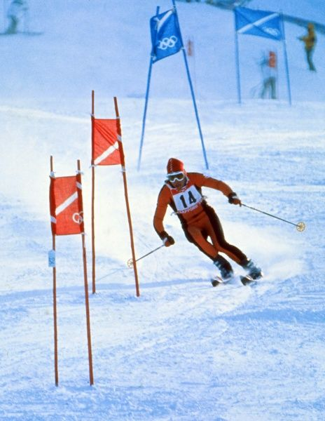 Alpine Skiing - 1972 Sapporo Winter Olympics - Men's Giant Slalom Switzerland's Edmund 'Edy' Bruggmann, who won the silver medal at Mount Teine, Japan. 09/02/1972