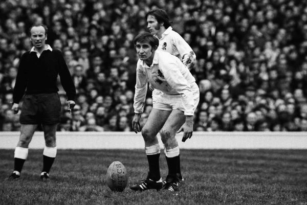 England's Alan Old prepares to kick against Wales - 1972 Five Nations