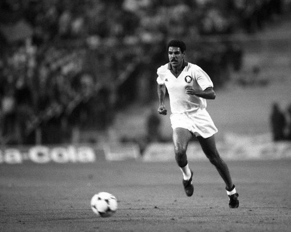 Football - 1984 European Cup Final - Liverpool 1* Roma 1 (*won 4-2 on pen a.e.t.)   Roma's Toninho Cerezo, at the Stadio Olimpico, Rome.   30/05/1984