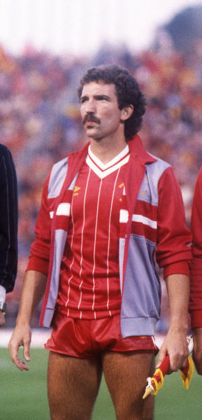 Football - 1984 European Cup Final - Liverpool 1* Roma 1 (*won 4-2 on pen a.e.t.)     Liverpool captain Graeme Souness before kick-off, at the Stadio Olimpico, Rome.     30/05/1984