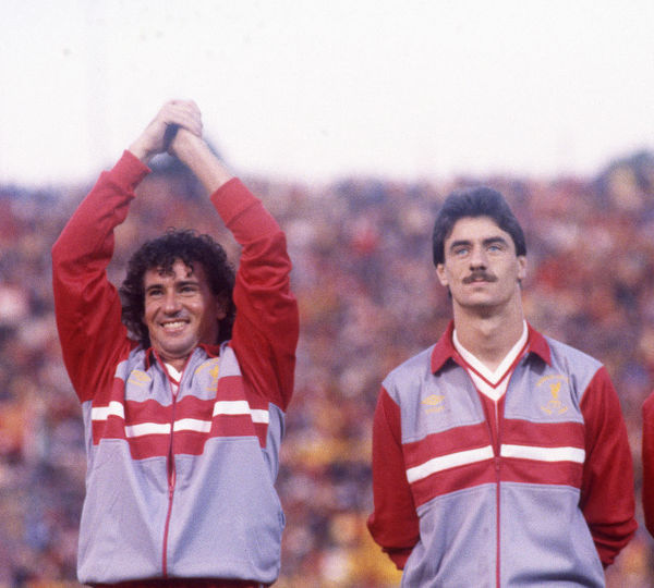 Football - 1984 European Cup Final - Liverpool 1* Roma 1 (*won 4-2 on pen a.e.t.)     Liverpool's Craig Johnston and Ian Rush before kick-off, at the Stadio Olimpico, Rome.     30/05/1984