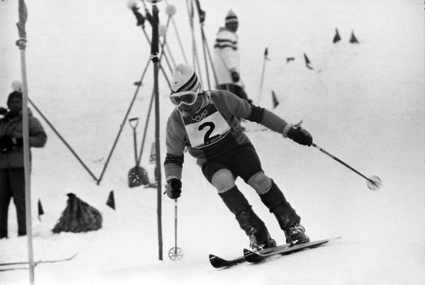 Alpine Skiing - 1972 Sapporo Winter Olympics - Men's Slalom Spain's gold medal winner Francisco Fernandez Ochoa at Mount Teine, Japan. Ochoa was a surprise winner and was the first, and to date only, Spaniard to win an Olympic WInter gold medal