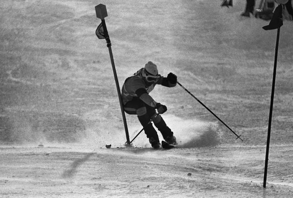 Alpine Skiing - 1972 Sapporo Winter Olympics - Men's Slalom Spain's gold medal winner Francisco Fernandez Ochoa at Mount Teine, Japan