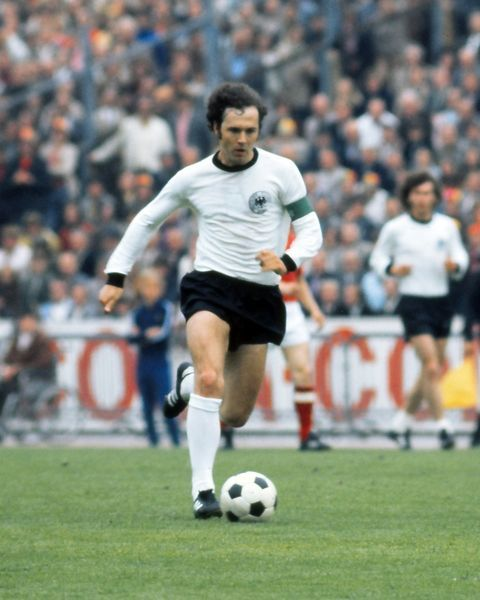 Football - European Nations Championship Final - West Germany vs. Soviet Union Franz Beckenbauer in action in Brussels