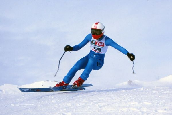 Alpine Skiing  Frederick 'Freddie' Burton pictured in January 1982. He represented Great Britain at the 1984 Sarajevo Winter Olympics in the Downhill and Giant Slalom