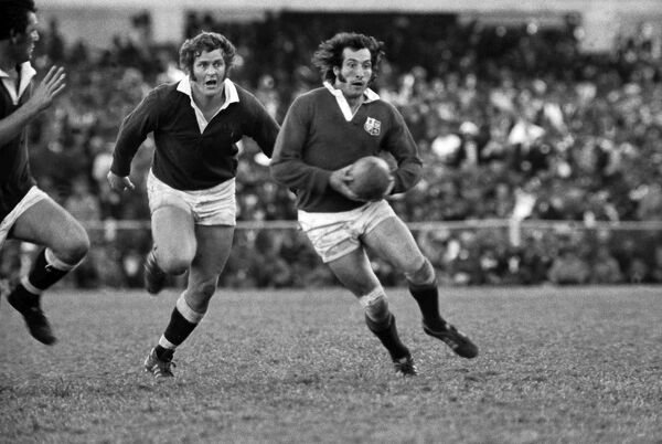 Rugby Union - 1974 British Lions Tour to South Africa - Border 6 British & Irish Lions 26 (17/7/1974) Gareth Edwards of the Lions on the ball during the game in East London